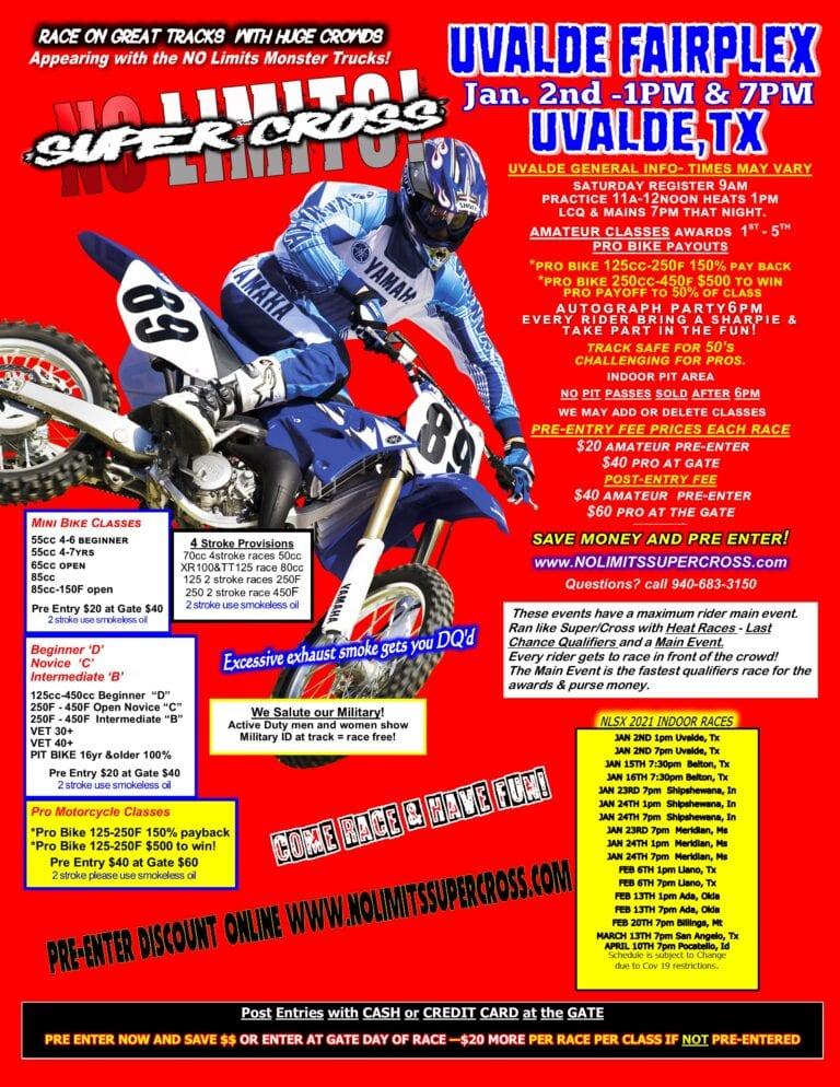 Supercross in Uvalde, TX in 2021!