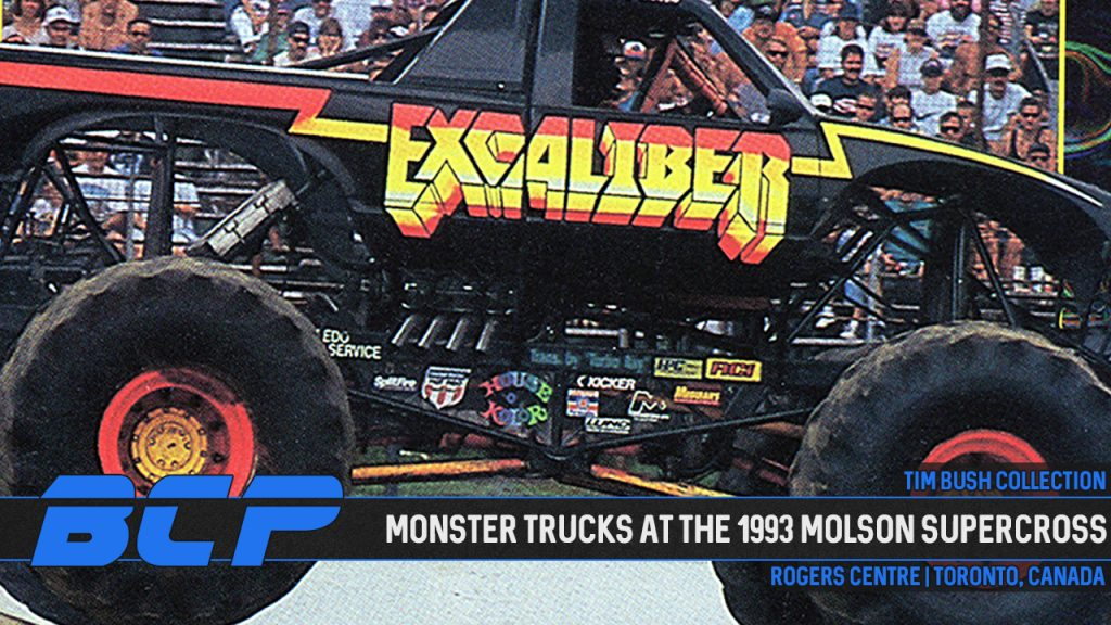 Tim Bush Collection: Monster Trucks at the 1993 Molson Supercross