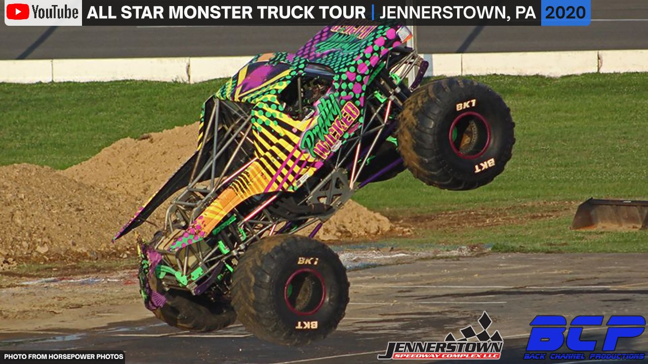 All Star Monster Truck Tour from the Jennerstown Speedway - Full Show