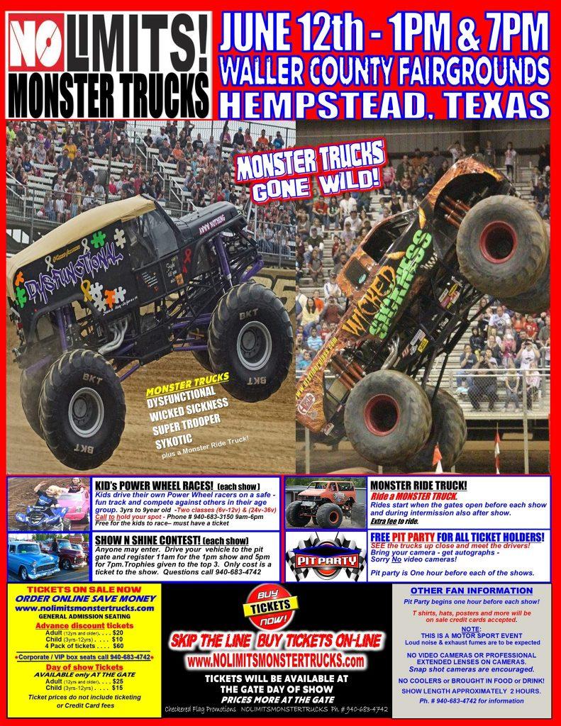 No Limits! Monster Trucks In Hempstead, Texas - 2021