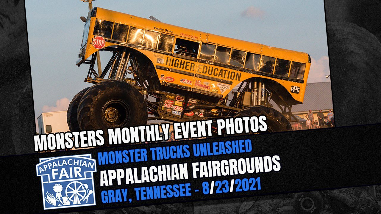 Monster Trucks Unleashed From The Appalachian Fair In Gray, Tennessee - 2021