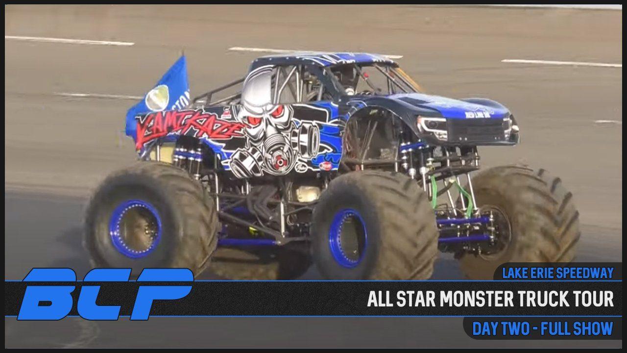 all star monster truck tour lake erie speedway 2020 youtube