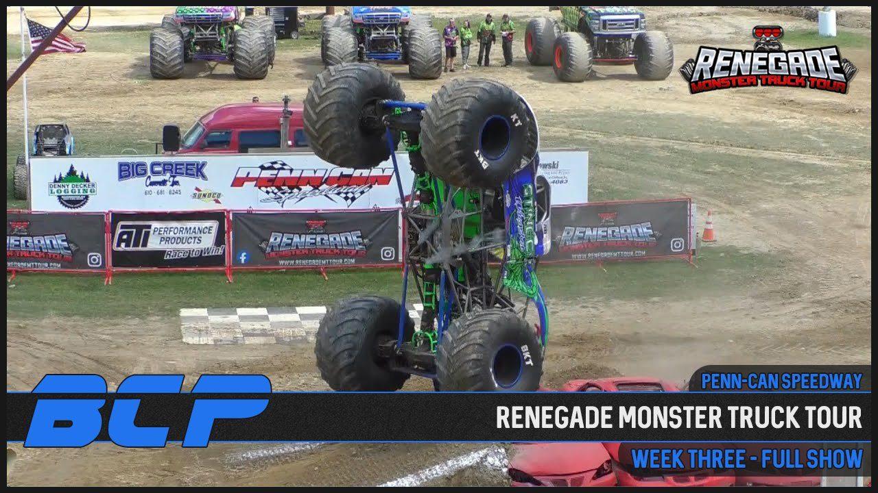 renegade monster truck tour penn can speedway 2020